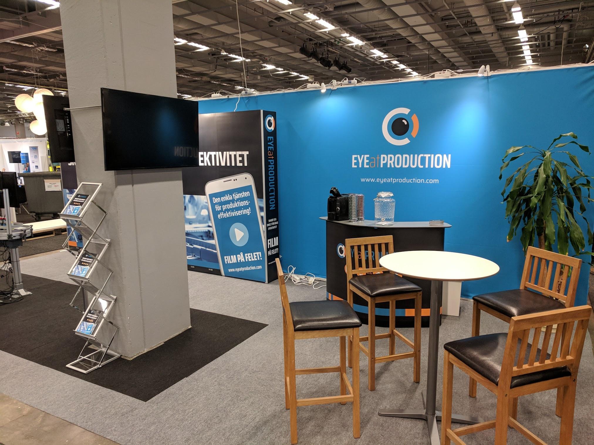 EyeAtProductions monter är redo för besökarna
